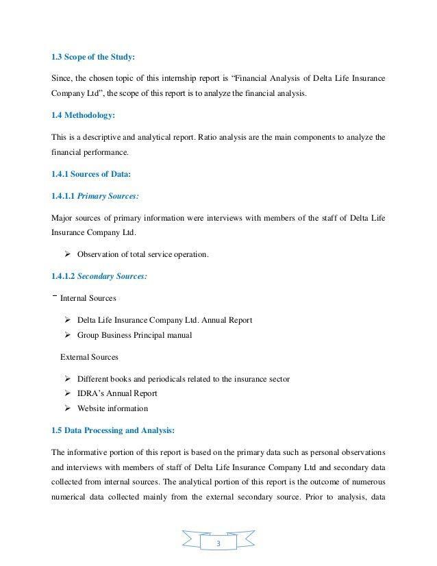 Internship Report on Financial Analysis of Delta Life Insurance Compa…
