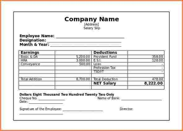 Beautiful Salary Slip Sample Photos - Best Resume Examples for ...