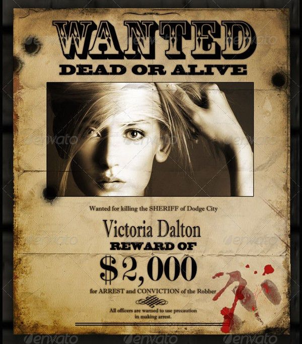 17+ Wanted Posters- Free PSD, AI, Vector EPS Format Download ...
