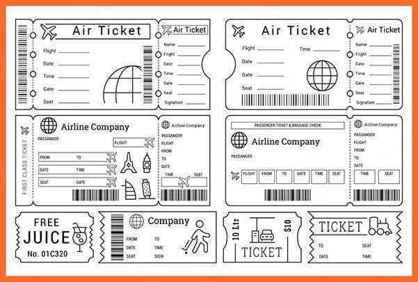 airline ticket template | soap format