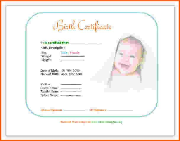 9+ birth certificate templates | Survey Template Words