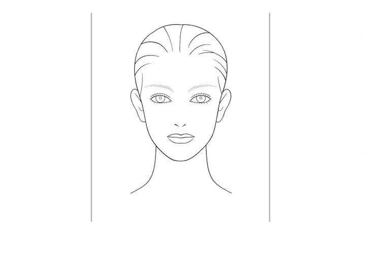 blank hair charts | You can download this Shisheido face chart ...