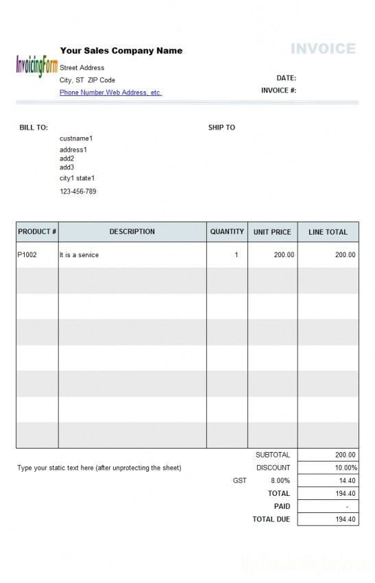 Proforma Invoice Template Australia | Design Invoice Template