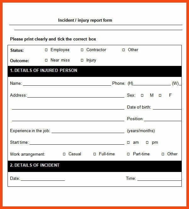 incident report template | program format