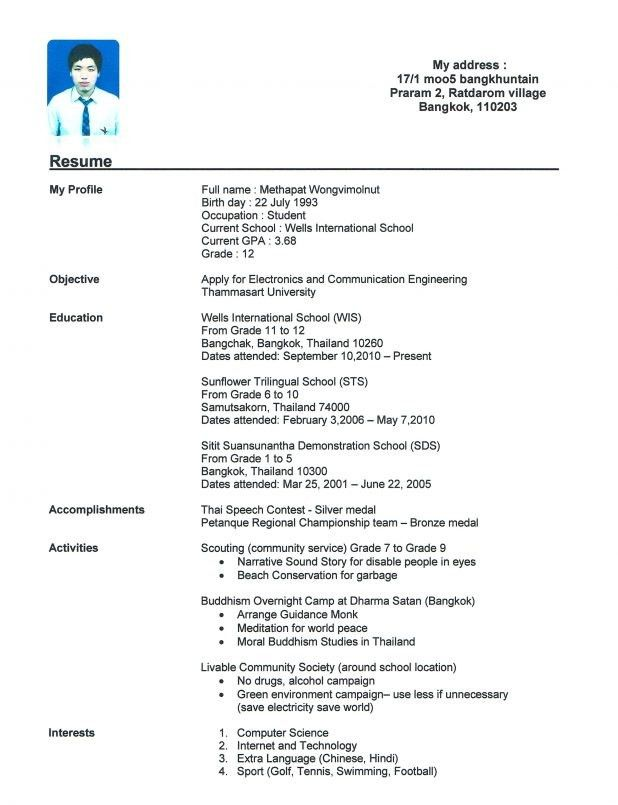 Resume Template With No Work Experience. Job Resume Samples For ...