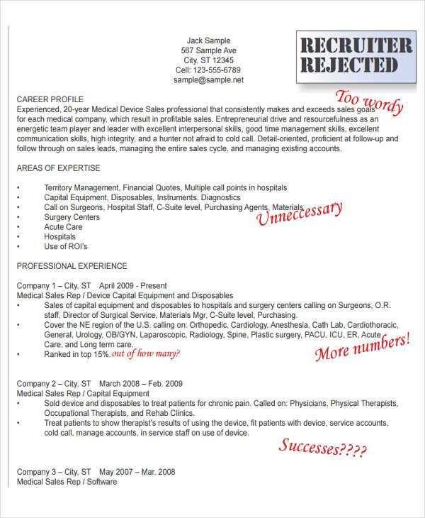 Medical Sales Resume. Medical Device Sales Professional Sales ...