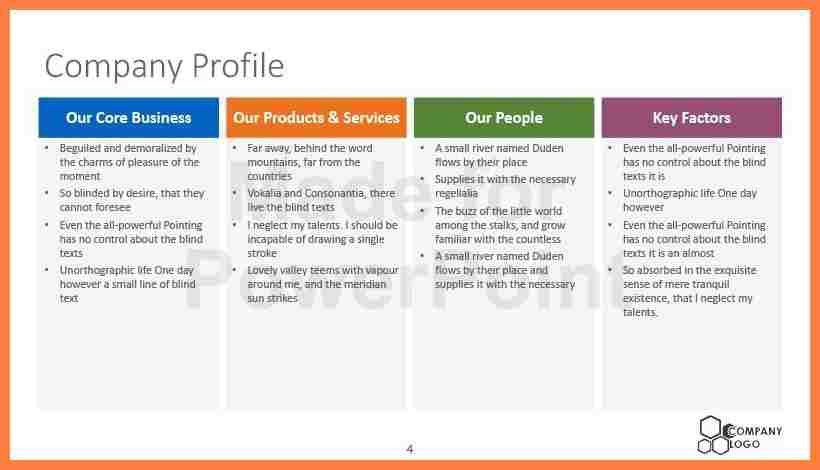 8+ profile company template | Company Letterhead