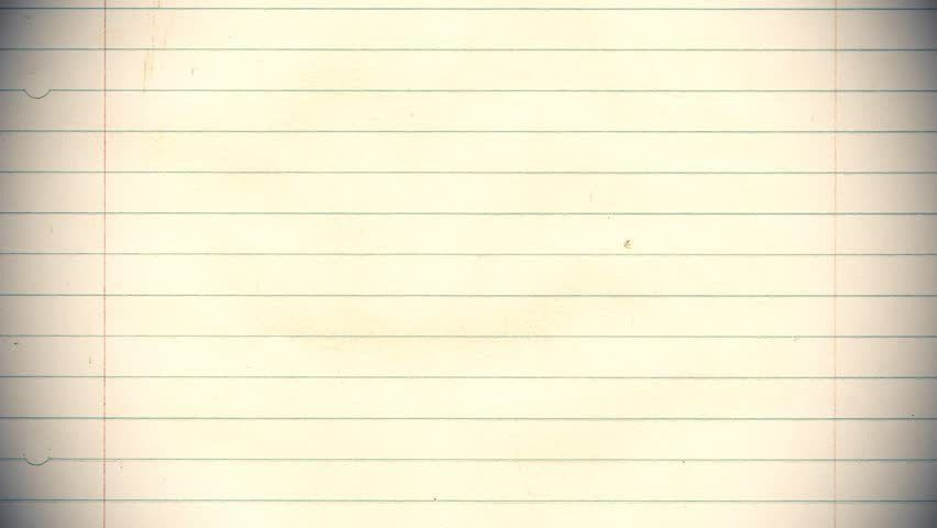 Lined Note Paper Stock Footage Video | Shutterstock