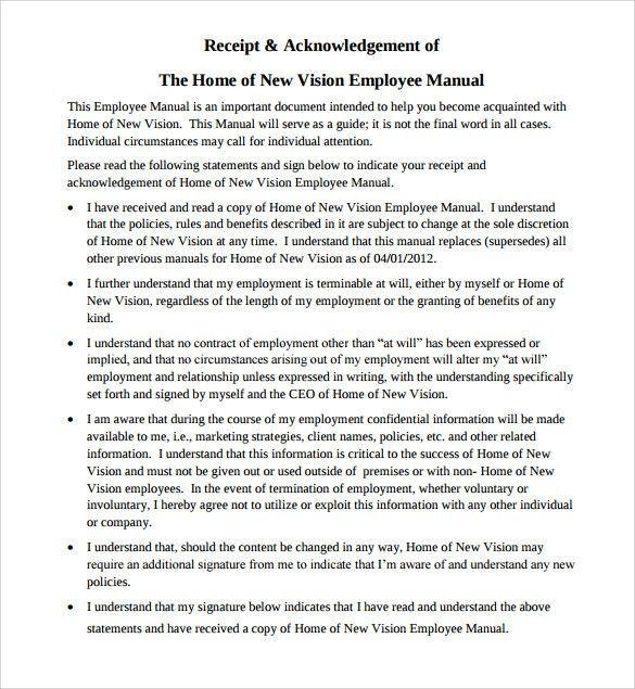 Sample Employee Manual - 8+ Documents in Word, PDF