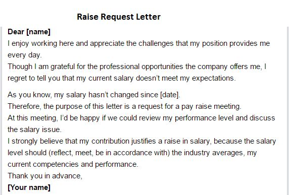 Raise Request Letter - Writing Professional Letters