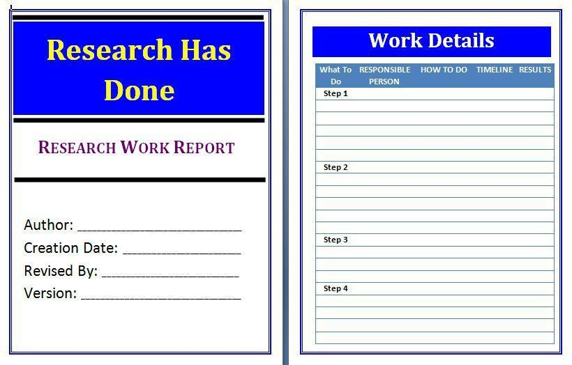 Work Report Template | Free Business Template