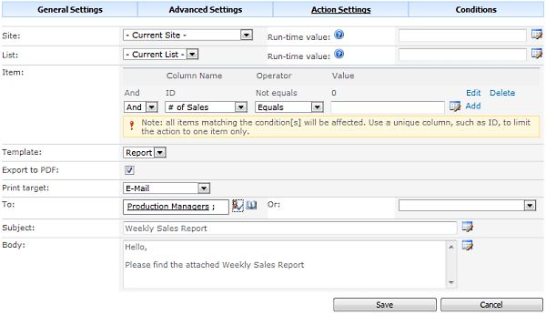 Automate report generation using Ultimate Forms Enterprise ...