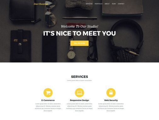 Top 28 Free One-Page Website Templates Built With Bootstrap 2017 ...