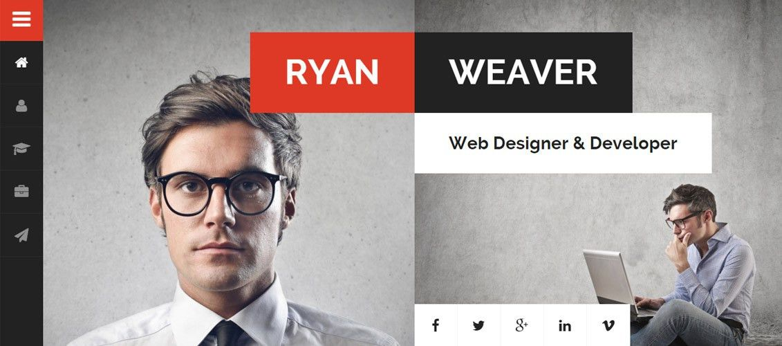 25 Personal HTML Website Templates