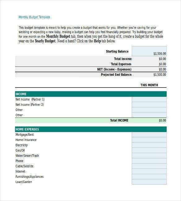 Personal Budget Template – 10+ Free Word, Excel, PDF Documents ...