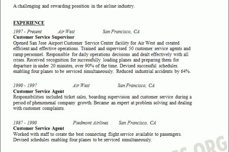 Airport Ramp Agent Resume - Reentrycorps