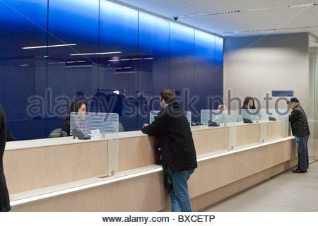 Teller stations in the Citibank new flagship high tech branch in ...