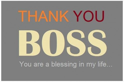 Thank You Boss Note: Wording, Card, Letter, Sample, Example ...