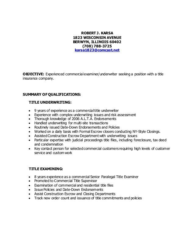 Title Resume