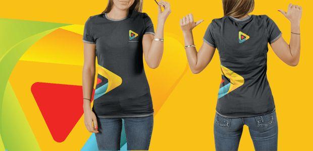 Female PSD T-Shirt Mocku Up Template Free – DesignsCanyon