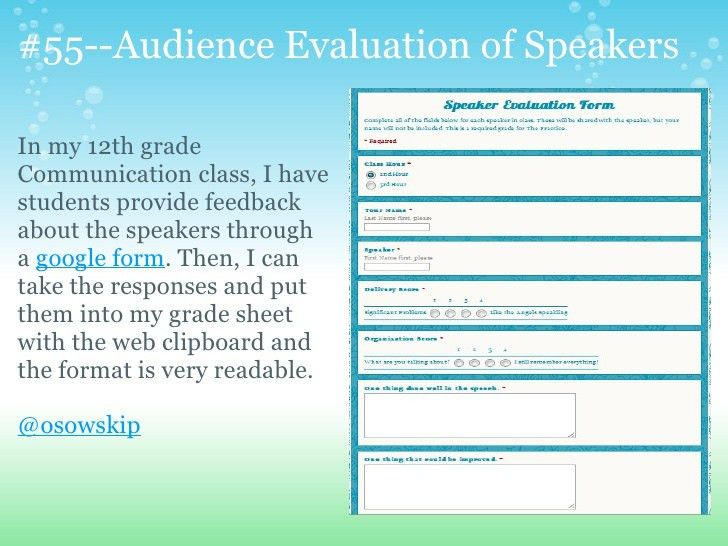 Speaker Evaluation Form. Evaulation Performance Graph With An ..