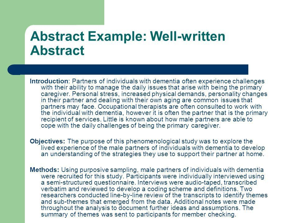 Guide to CAOT Abstract Review - ppt download