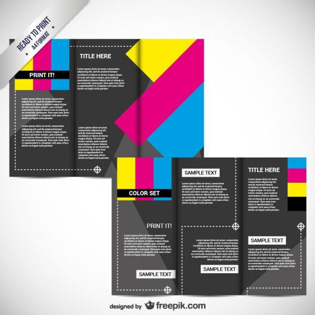 CMYK Printable brochure Vector | Free Download