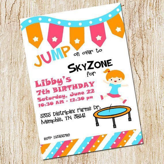 18 best Birthday Parties @ Sky Zone images on Pinterest | Birthday ...