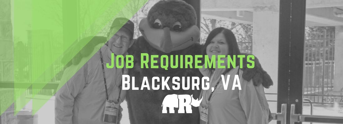 Job Requirements - Rhino Sports & Entertainment SERVICES