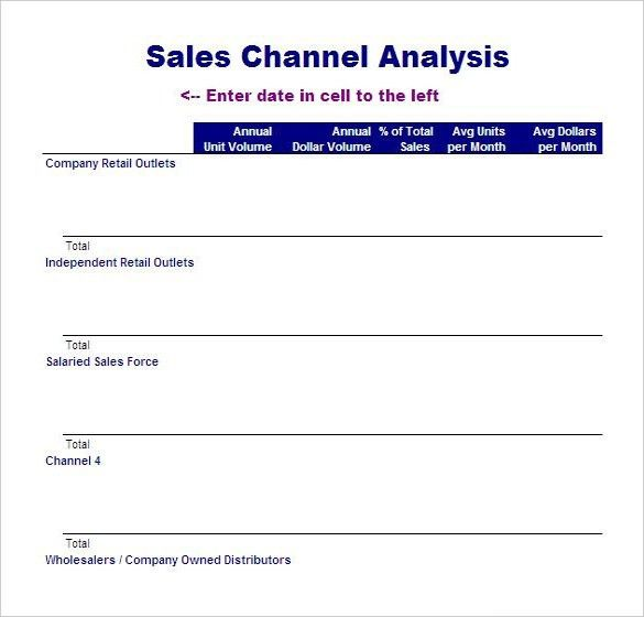 Sales Analysis Template – 8+ Free Word, Excel, PDF Format Download ...