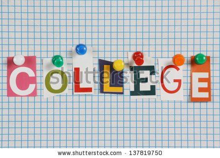 Word College Cut Out Magazine Letters Stock Photo 137819750 ...
