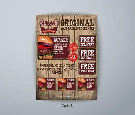 Western Burger Poster Template | FlyerForU.com