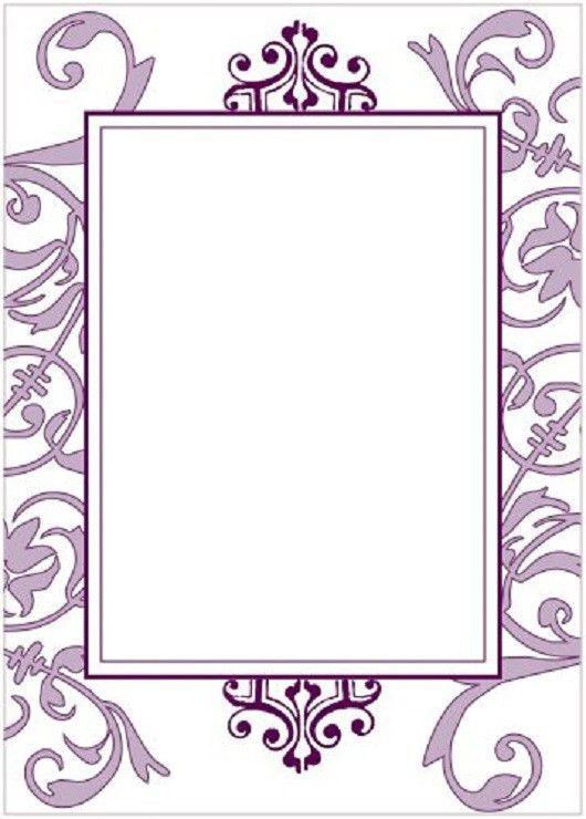 Blank Wedding Invitation Templates Purple - Popular Wedding ...