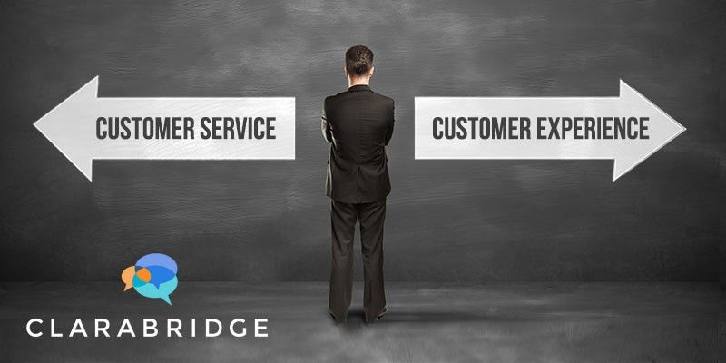 Customer Service vs. Customer Experience | Clarabridge