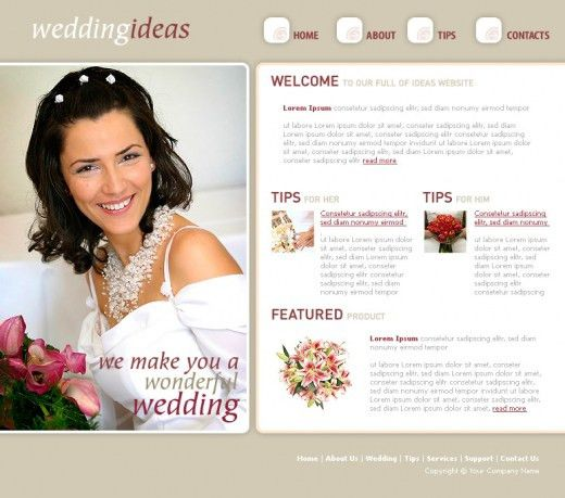 Free & Premium Wedding Website Templates | Evohosting