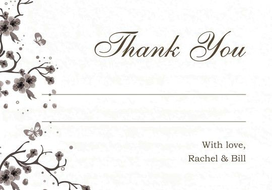 Thank You Card: Gallery Collections Wedding Thank You Card ...