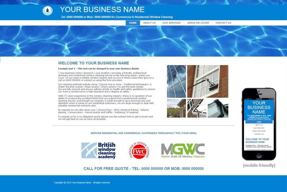 Window cleaning website design | Studio Arts Web Design