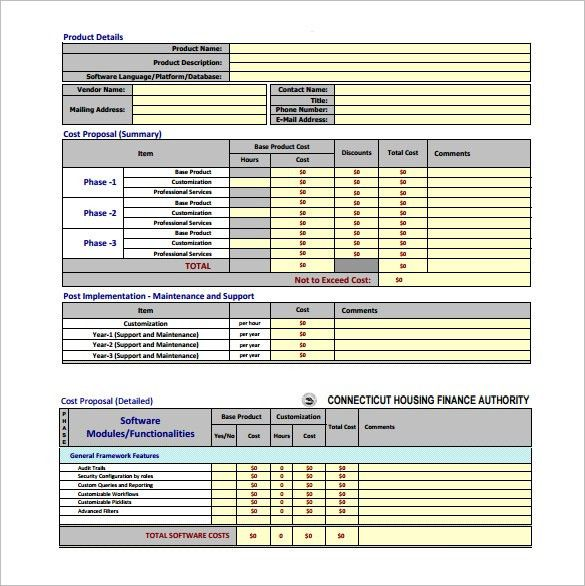 Cost Proposal Template – 8+ Free Word, Excel, PDF Format Download ...