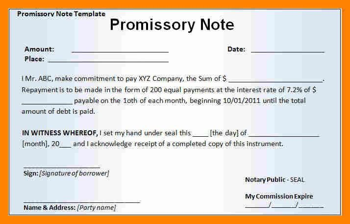 6+ promisory note example | resume sections