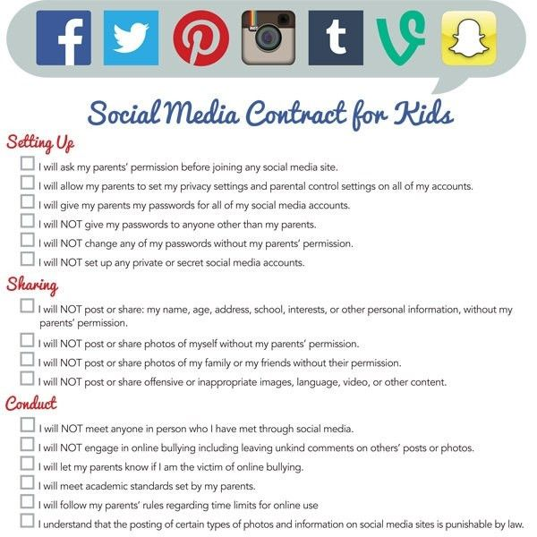 Printable Cell Phone Contract For Tweens | bookzseo