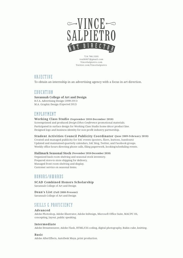 Scott Rovin Resume Sample for Creative Director Art Director and ...