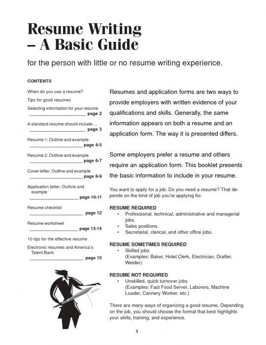 How To Write A Basic Resume - Resume Example