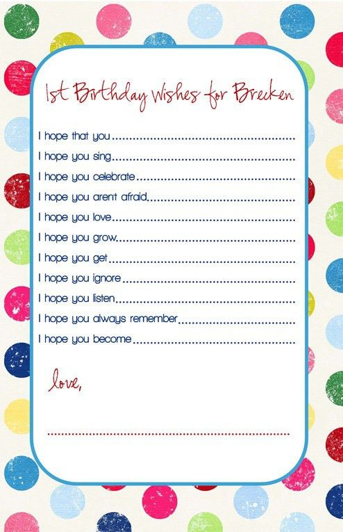 Best 10+ First birthday wishes ideas on Pinterest | 1st birthday ...