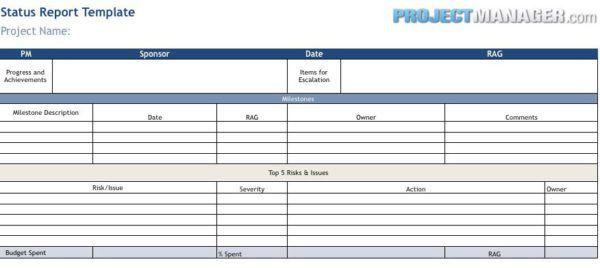 Status Report Template - ProjectManager.com