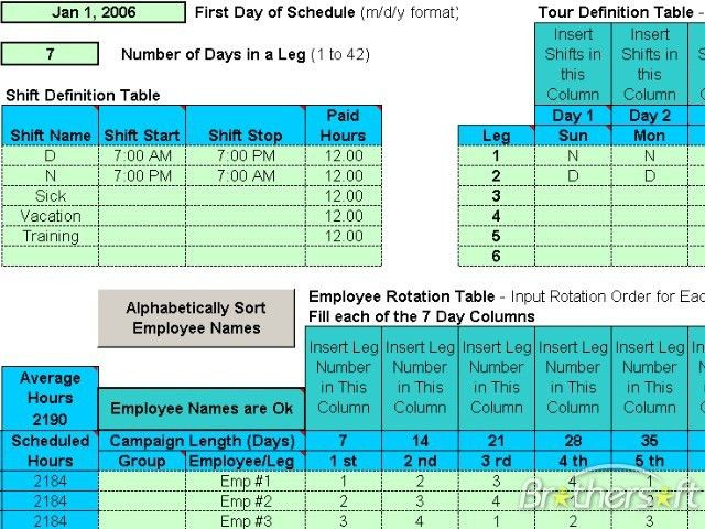 Download Free Schedule Rotating Shifts, Schedule Rotating Shifts ...