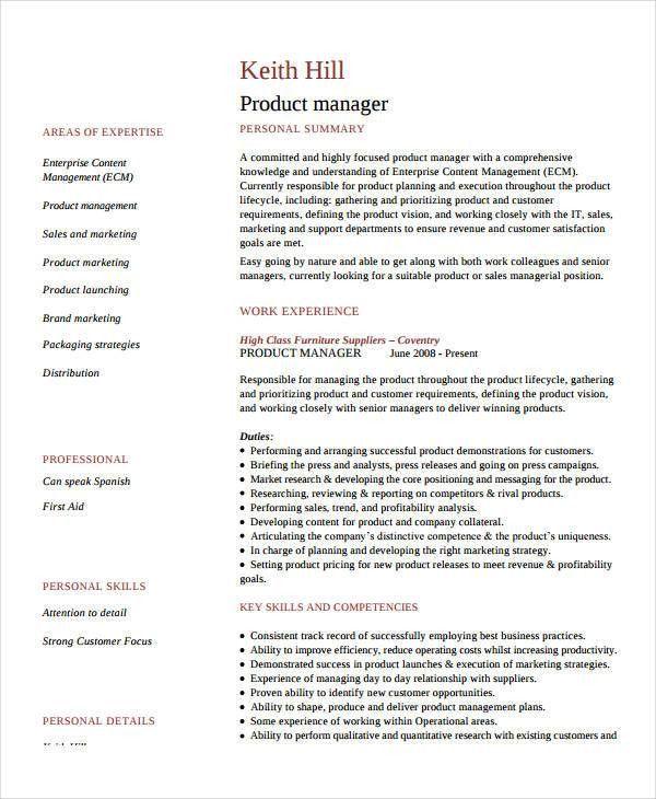 Cv examples for bar jobs