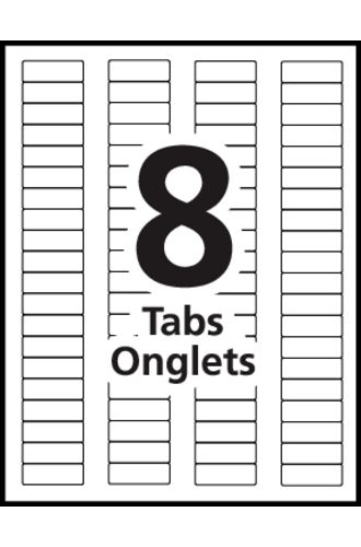Avery® Index Maker Dividers 8-Tab - 11417 - Template