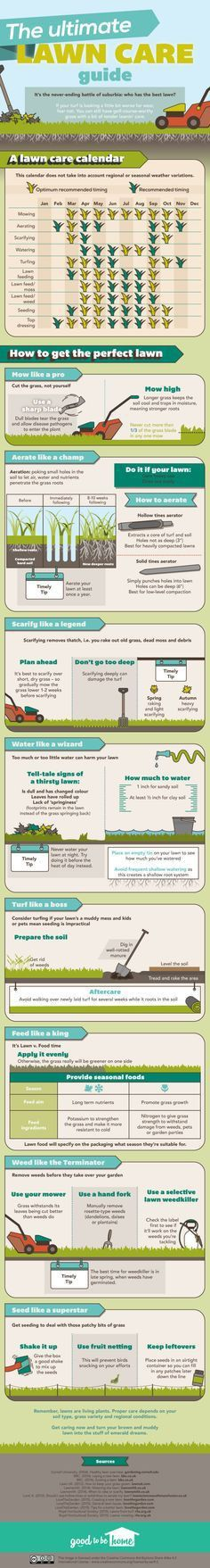 This Chart Shows the Lawn Maintenance You Need to Do Every Month ...