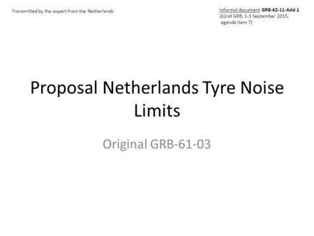 Proposal for Draft Amendment to Regulation No ppt video online ...