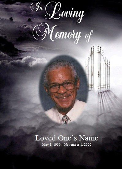 Heaven's Gate Memorial Service Template for Microsoft Word. This ...